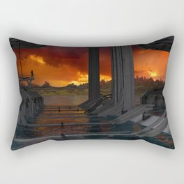 Drevos - Sci Fi - Sunset - Science Fiction - ZG 3D Rectangular Pillow