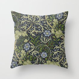 William Morris Seaweed Pattern Throw Pillow