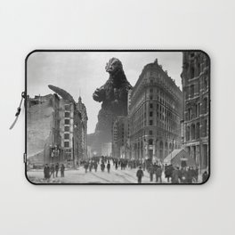 Old Time Godzilla in San Francisco Laptop Sleeve