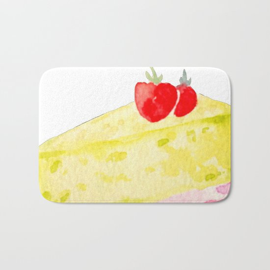 Lemon & Strawberry Cake Bath Mat