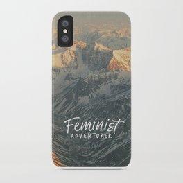 Feminist Adventurer iPhone Case
