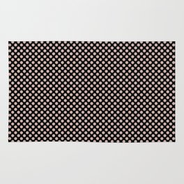 Black and Rose Smoke Polka Dots Rug
