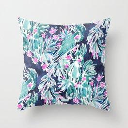 PALMY & COCKY Palm Cockatoo Throw Pillow