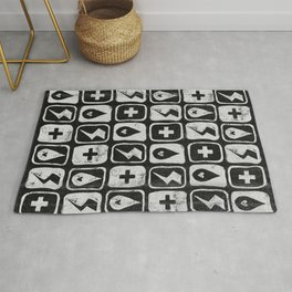 For the love of thunderstorms (dark) Rug