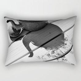 Summer flower pot in black and white Rectangular Pillow