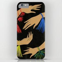 Tasseled Hands iPhone Case