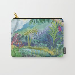 Jungle Paradise Watercolor Carry-All Pouch