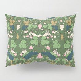 Strawberry Rat Thieves (green) Pillow Sham