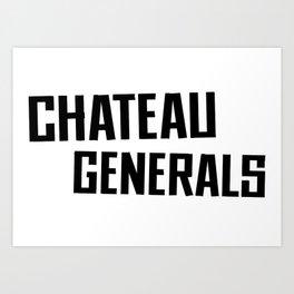 Chateau Generals Logo Art Print