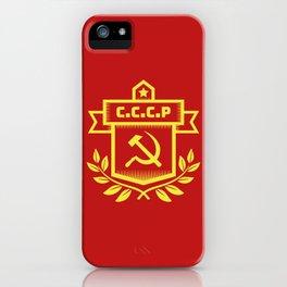 Communist Hammer Sickle Insignia iPhone Case