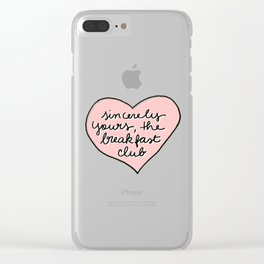 sincerely yours Clear iPhone Case