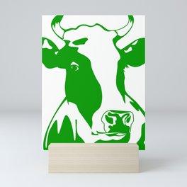 Animal Art Green Cow Mini Art Print