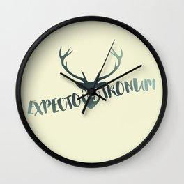 Expecto Patronum Wall Clock
