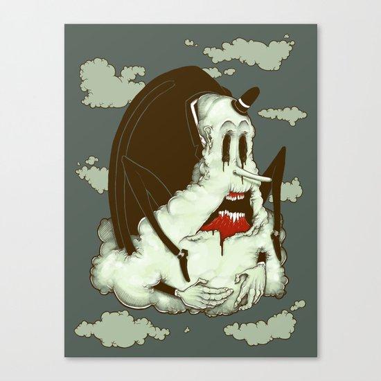 Creep Cloud Face Melt Canvas Print