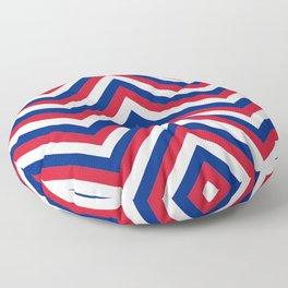 UK Union Jack Red White and Blue Jumbo Chevron Stripes Floor Pillow