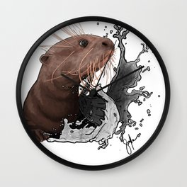 Cujo giant river otter Wall Clock