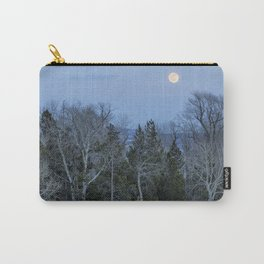 Full Moon Over Trees At Dusk Carry-All Pouch