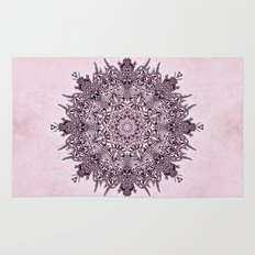 Pink Mandala Fractal Art Rug
