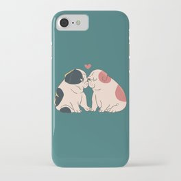 English Bulldog Kisses iPhone Case