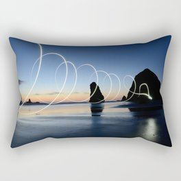 Ocean light rays Rectangular Pillow