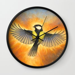 Phoenix tit bird Wall Clock