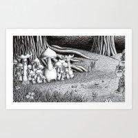 Mushroom Castle Art Print