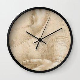 Hand studies - Leonardo Da Vinci Wall Clock