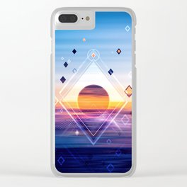 Abstract Geometric Collage II Clear iPhone Case