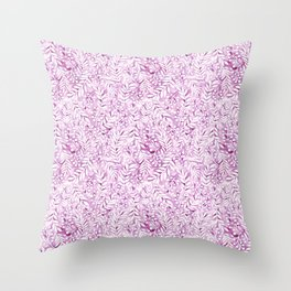 violet garden leaf pattern Throw Pillow