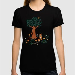 Foxes Playing in the Emerald Forest T-shirt