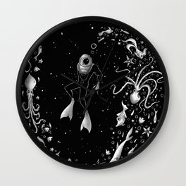 SPACE DIVE Wall Clock