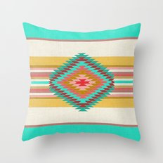 FIESTA (teal) Throw Pillow