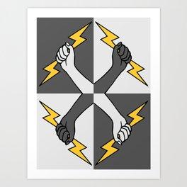 Everybody Thunderbolt (Heraldic) Art Print