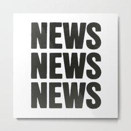 News News News Metal Print