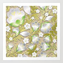 Art Flowers V7 Art Print