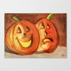 Jack-O-Lanterns Canvas Print