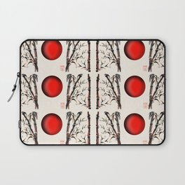 Sumi-e bamboo forest pattern Laptop Sleeve