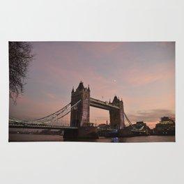 Sunset Tower Bridge London United Kingdom Rug