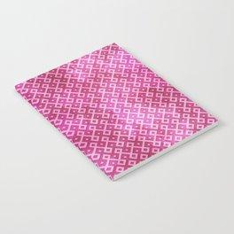 Pink Watercolor & Geometric Pattern Notebook