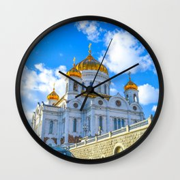 Cathedral of Christ the Saviour. Russia,Moscow Kremlin Red Square Wall Clock