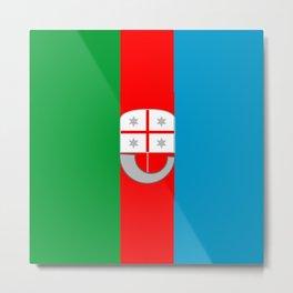 flag of liguria Metal Print