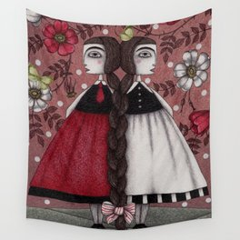 Snow-White and Rose-Red (1) Wall Tapestry
