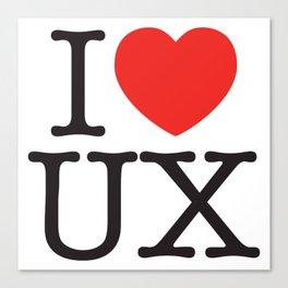 I heart UX Canvas Print