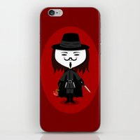 vendetta iPhone & iPod Skins featuring Vendetta by Sombras Blancas Art & Design