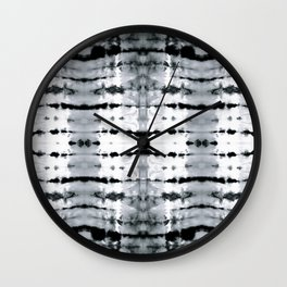 BW Satin Shibori Wall Clock