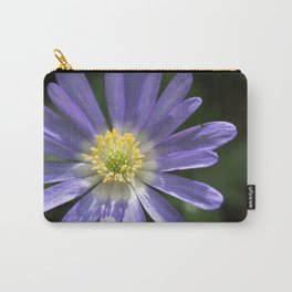 Blue Anemone Carry-All Pouch