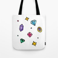 gem Tote Bags featuring Gem by Madi Moon