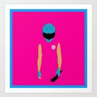 hotline miami Art Prints featuring Hotline Miami: Biker by Hazakael