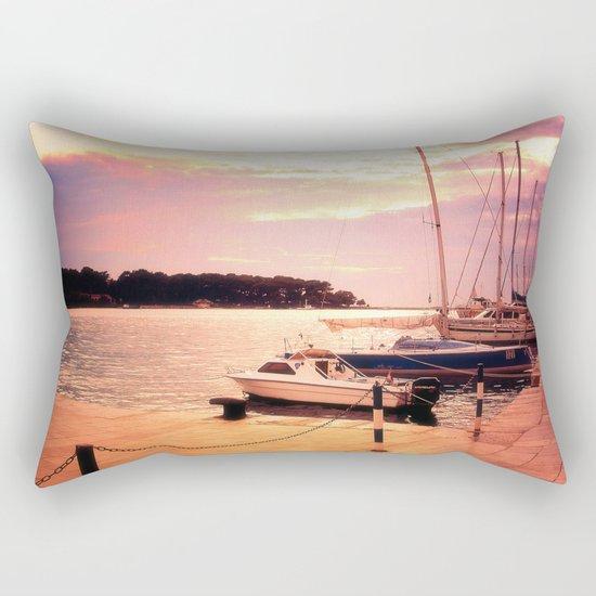 Evening at Port Rectangular Pillow