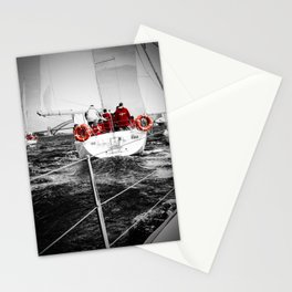 Lifesavers Near the Ocean Stationery Cards